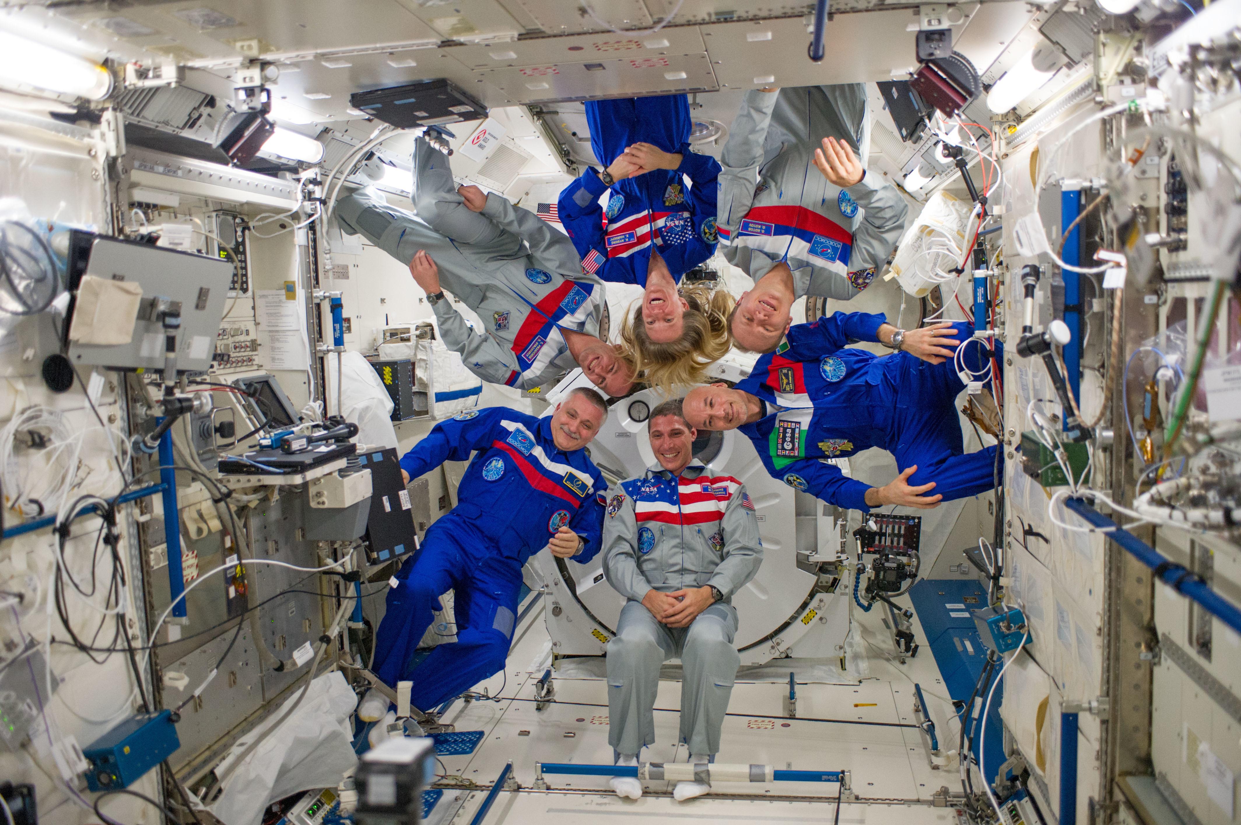 Космонавты на МКС