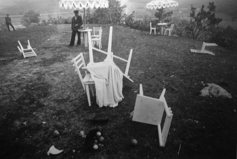 Съемочная площадка фильма «Рудобельская республика», 1971 год. Фото: Юозас Будрайтис