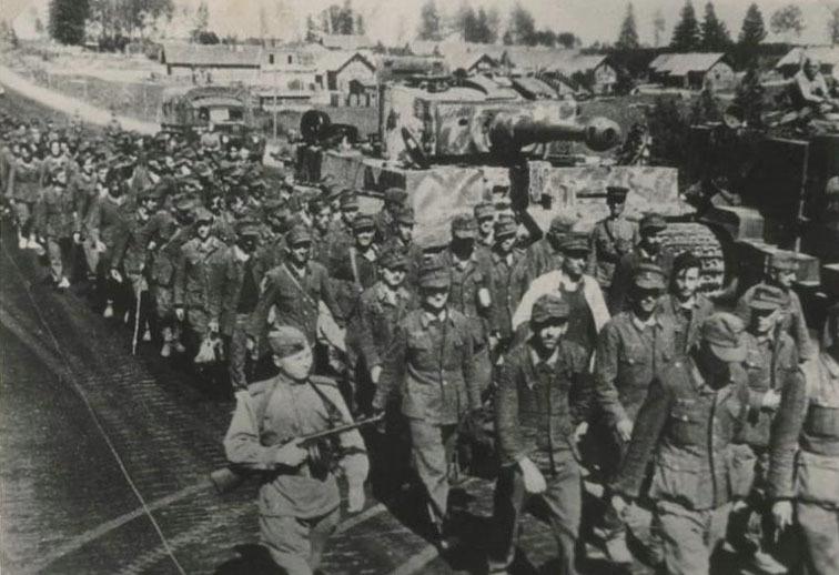 Плененные немецкие солдаты из «Минского котла», 1944 год