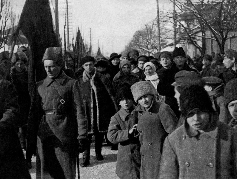 Красноармейский отряд в Гомеле, 1918 год