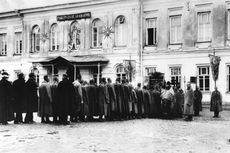 Крестный ход в царской ставке, 1916 год