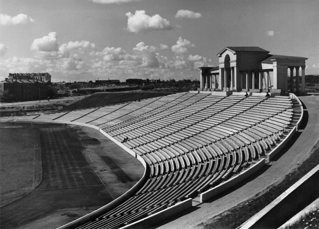 Стадион «Динамо» в Минске, 1950-е. Фото: Петр Клепиков