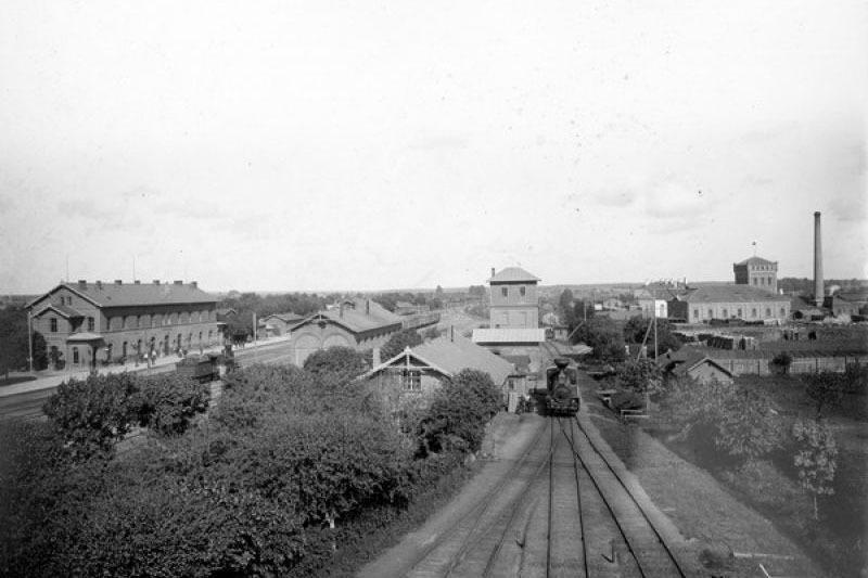 Станция «Полоцк» Риго-Орловской железной дороги, 1900-е. Фото: И. Миронов