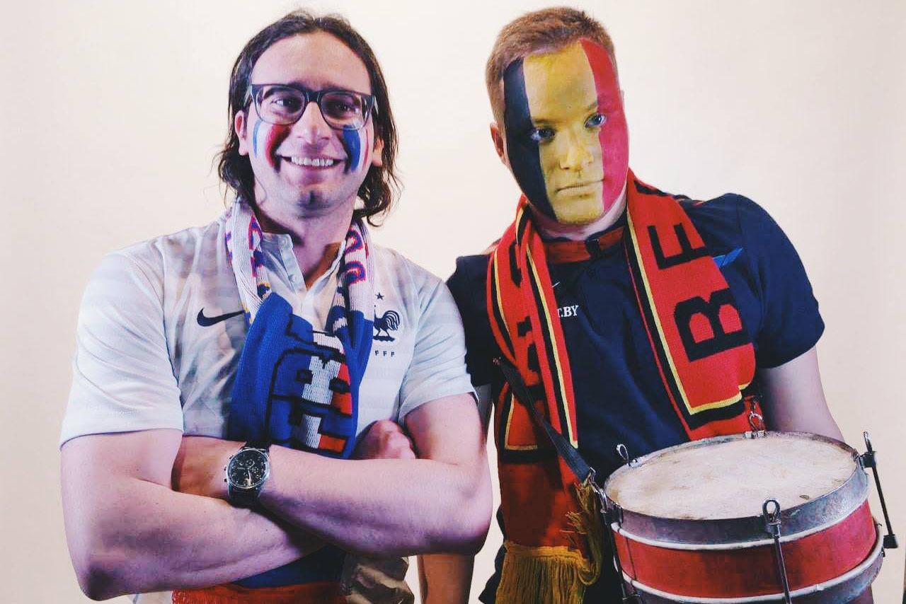 Комментаторы Николай Ходасевич (слева) и Владислав Татур (справа), фото из FB героев