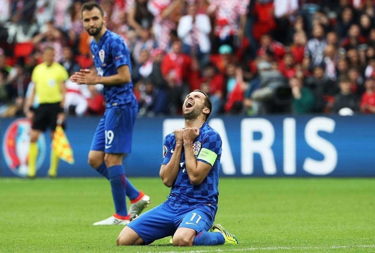 Дарио Срна, сборная Хорватии, фото: AFP