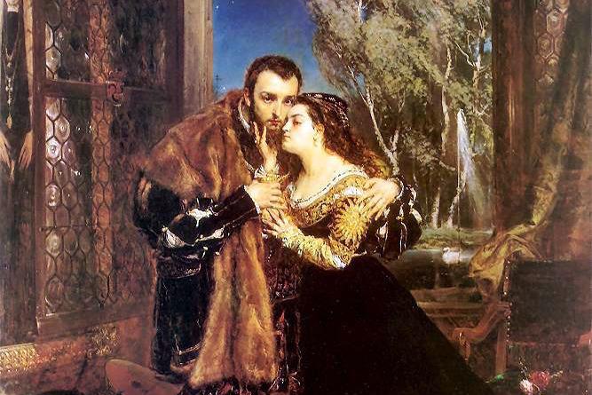 Я. Матейко. «Жигимонт и Барбара». 1867