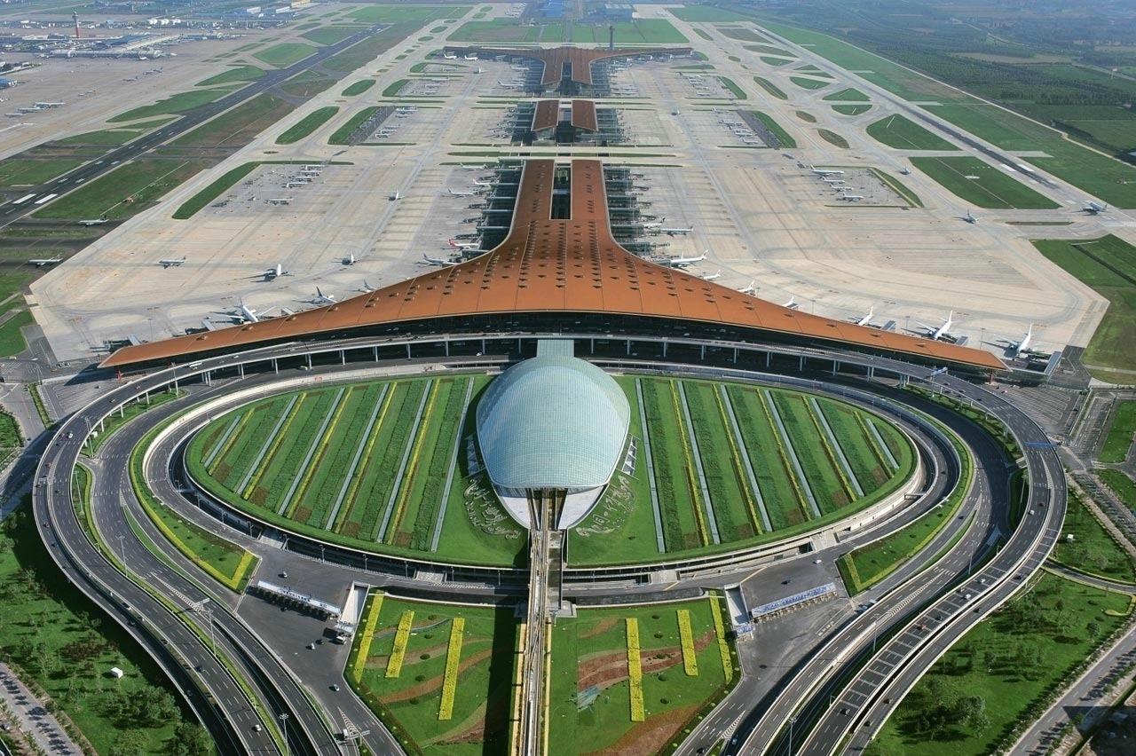 Аэропорт Пекина, фото: architizer.com