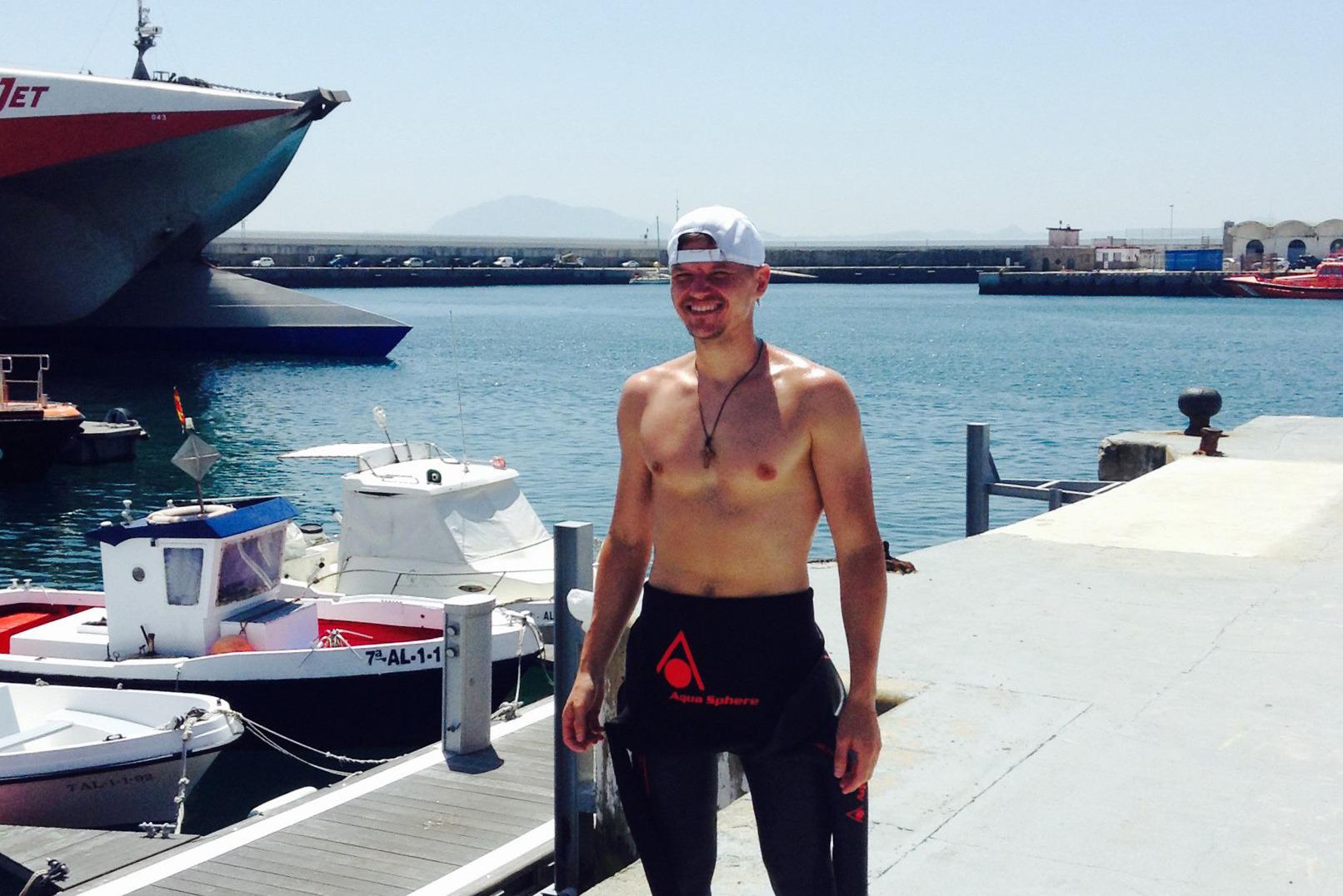 Влад Савин после заплыва