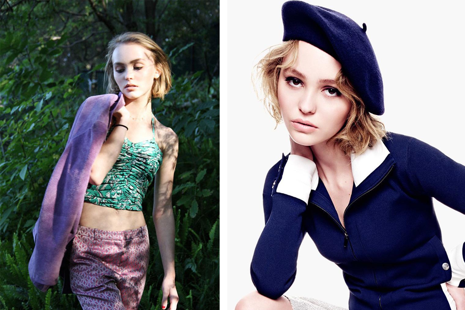 Лили-Роуз Депп, фото: eonline.com, vanityfair.com