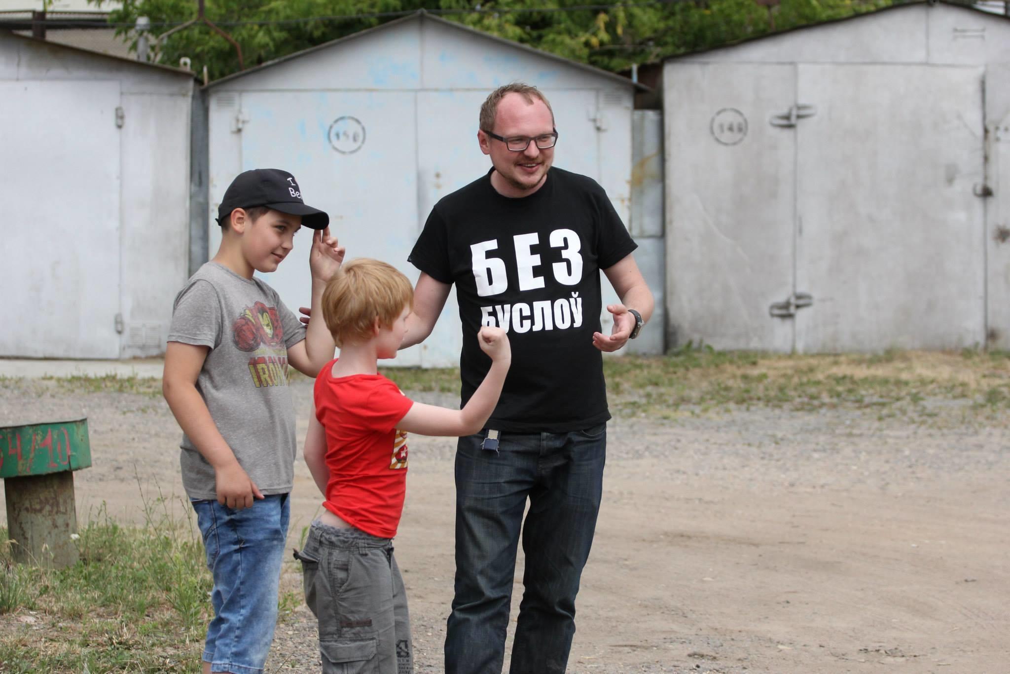 Андрей Курейчик на съёмках фильма «Гараш», фото: FB