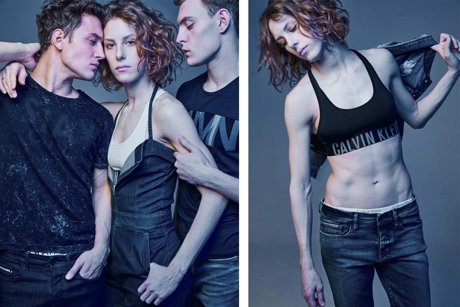 Актриса Ирина Горбачева для Calvin Klein. Фото: Данил Головкин