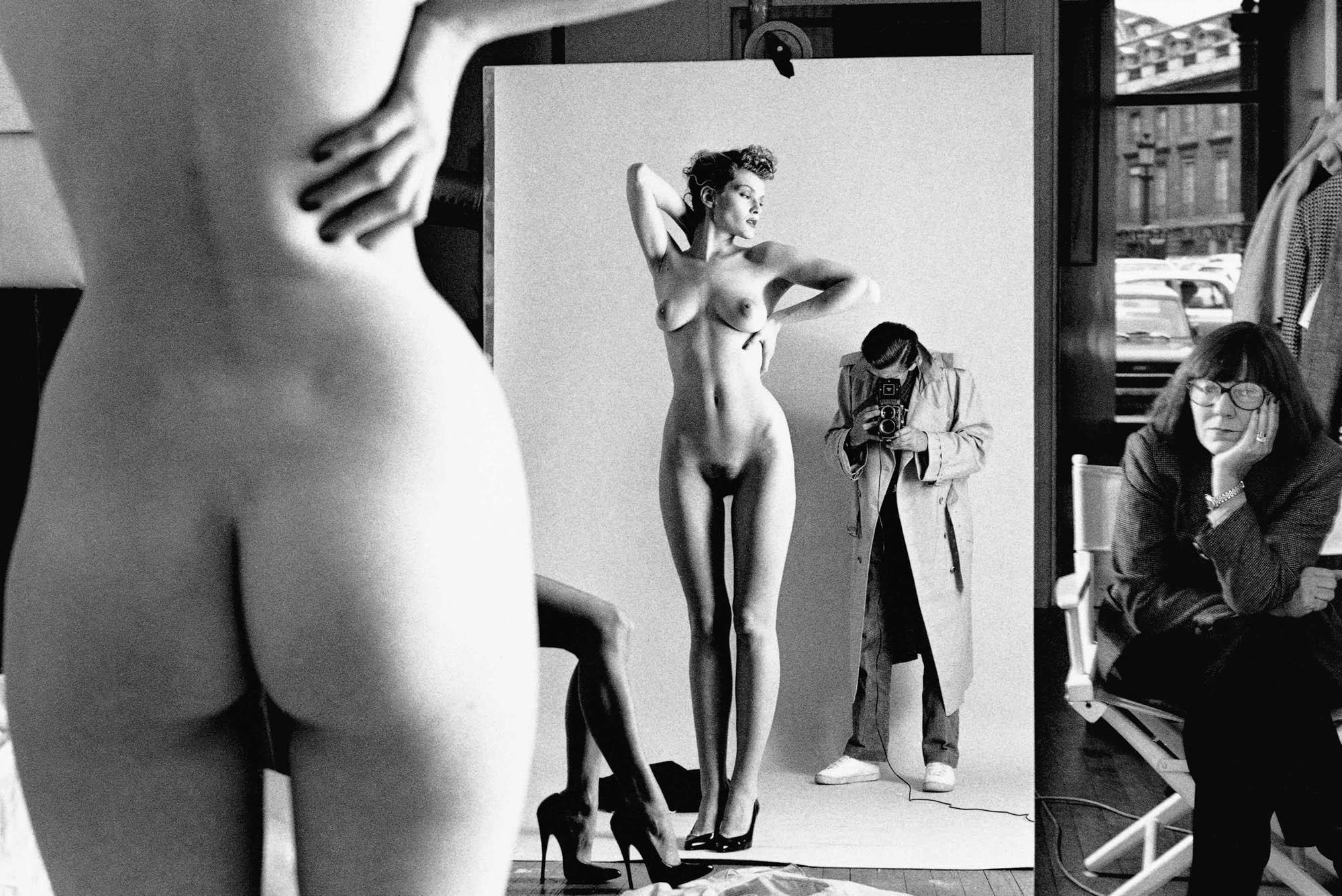 Фотограф Хельмут Ньютон с женой и моделью