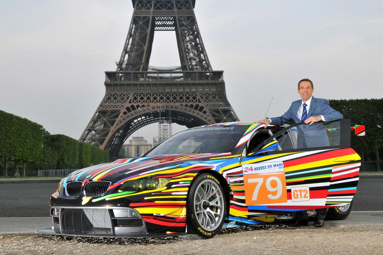 Джефф Кунс с разрисованной BMW, фото: mad4wheels.com