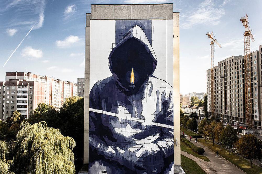 Граффити iNO на улице Воронянского, фото: FB художника