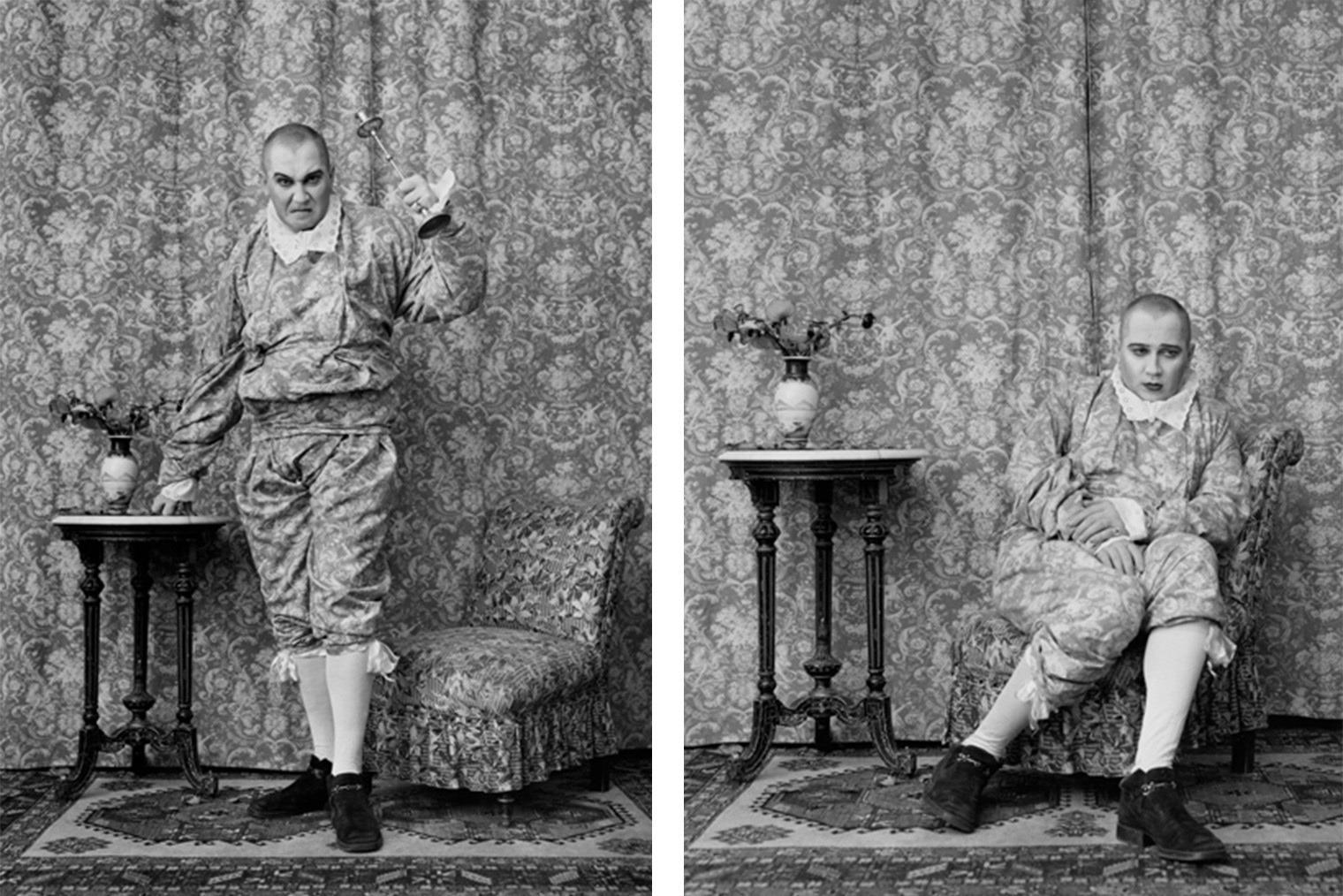 Фото Валерия Кацубы и Владислава Мамышева-Монро из серии «Всякая страсть слепа и безумна» («Гнев» и «Грусть»)