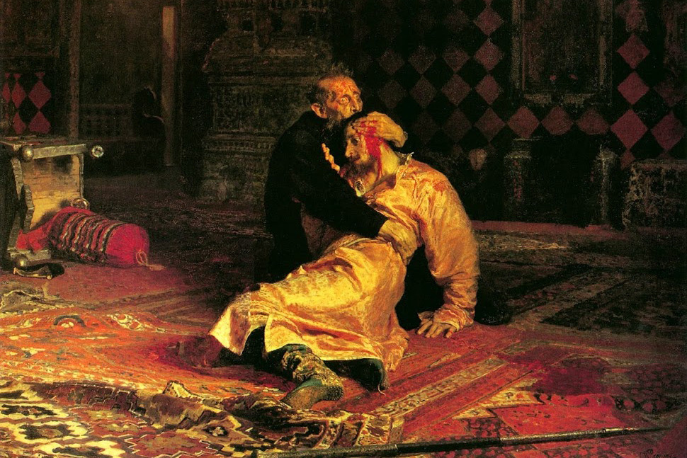 «Иван Грозный убивает своего сына», Илья Репин