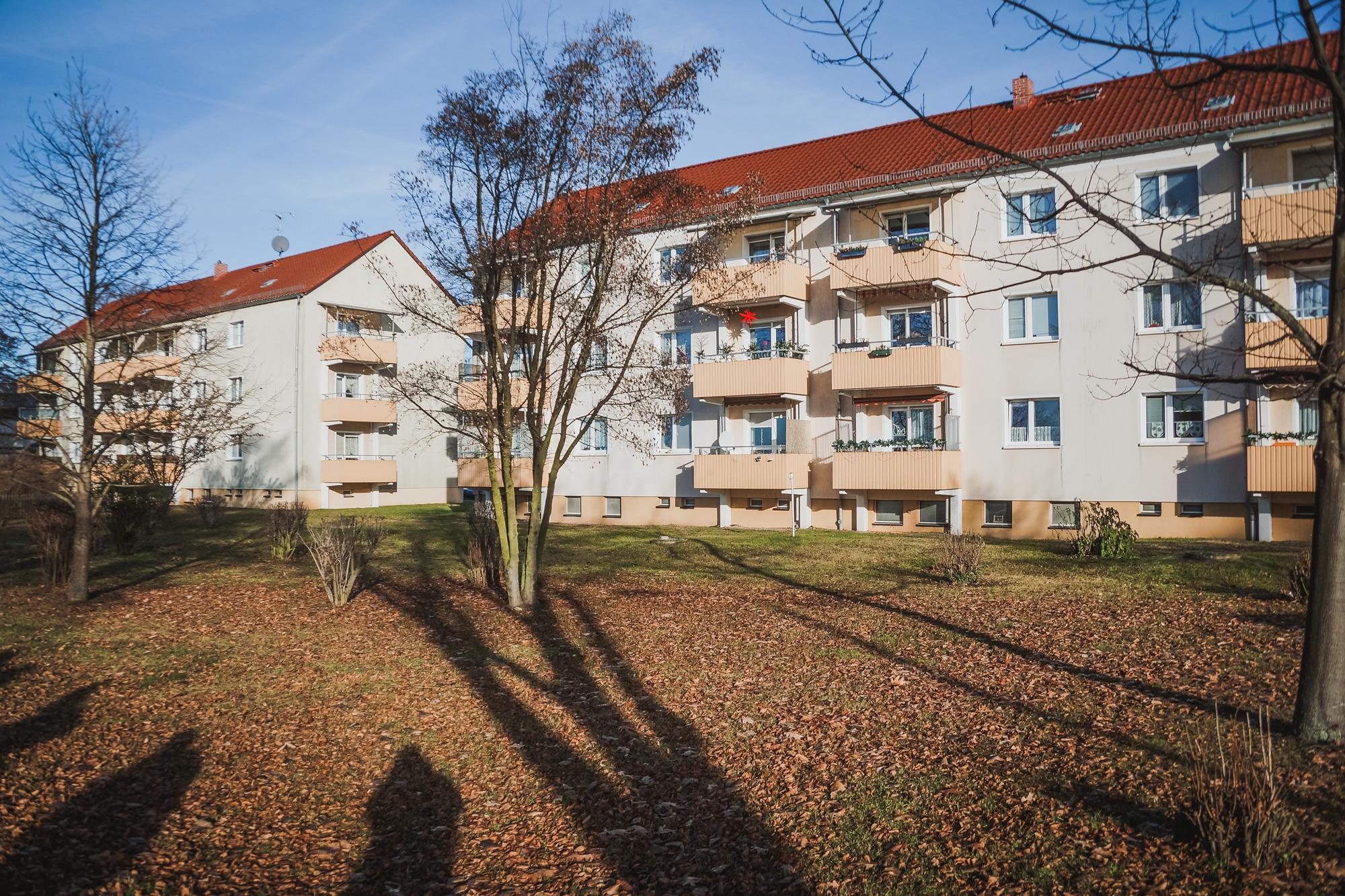 Дом, в котором живут беженцы в Гольцове