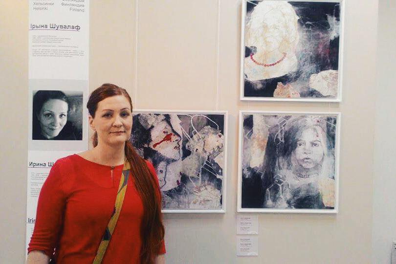Гостья и участница выставки Ирина Шувалофф (Финляндия)