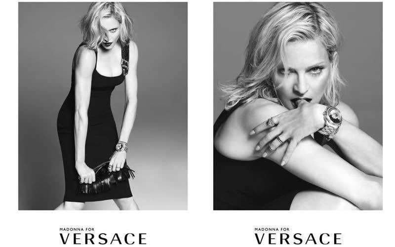 Мадонна в рекламе дома Versace