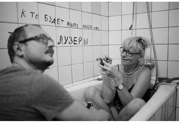 Фото со съёмок: Полина Москалева