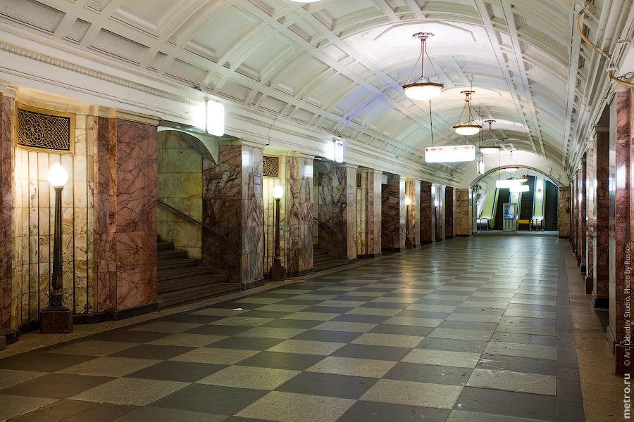 Станция метро «Белорусская», открытая в 1938 году. Фото: russos.livejournal.com