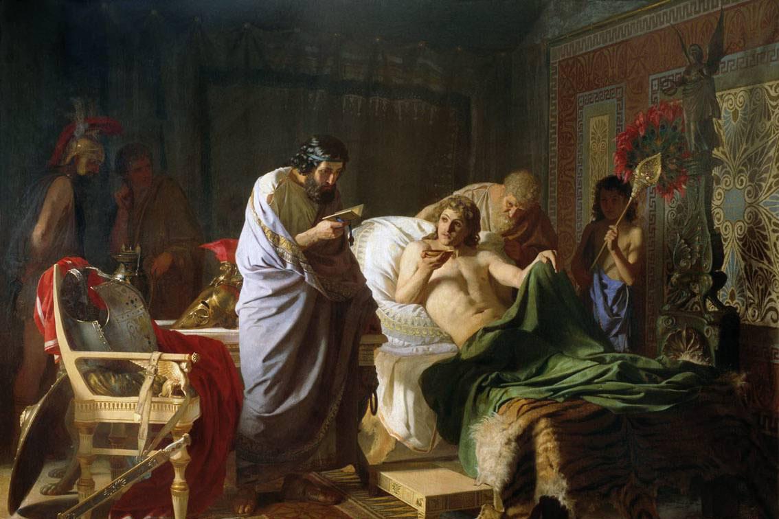 Генрих Семирадский. Доверие Александра Македонского к врачу Филиппу