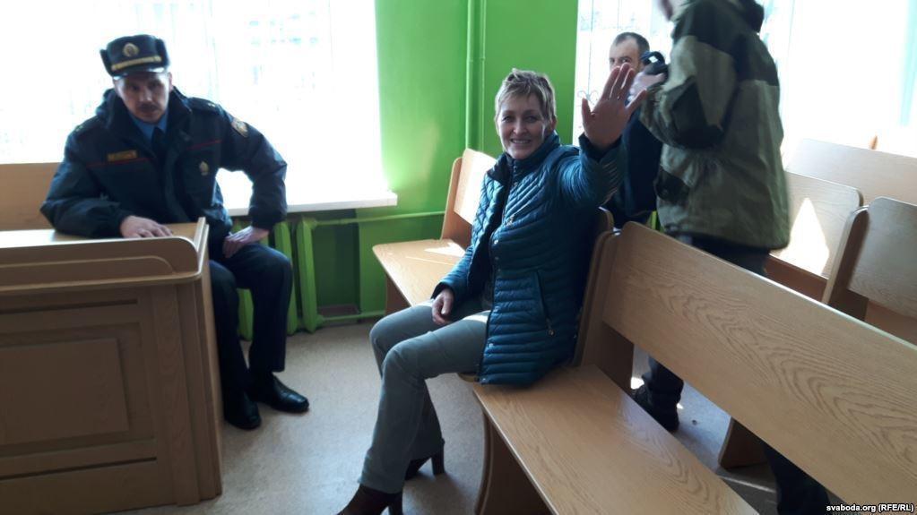 Журналист svaboda.org Галина Абакунчик на суде в Орше. Фото: svaboda.org