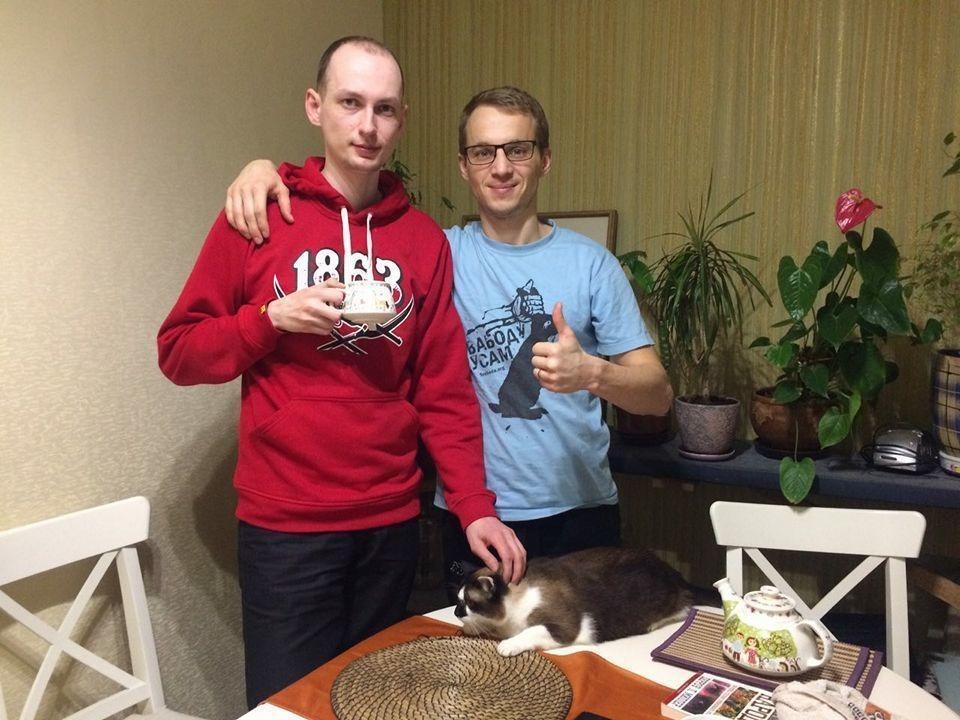 Кота Змитера Дашкевича можно рассмотреть на этом снимке из Facebook