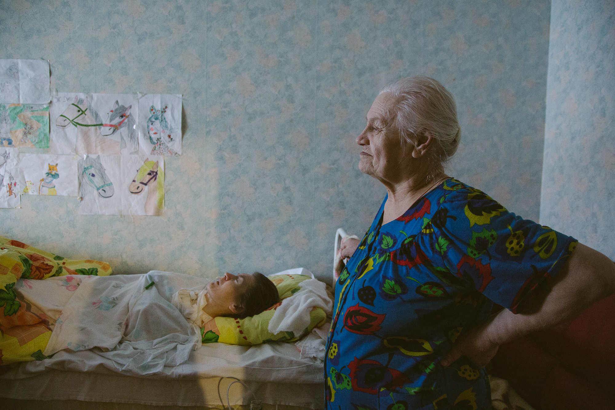 Любовь Даниловна с дочерью. Фото: Аркадий Соболев, Имена