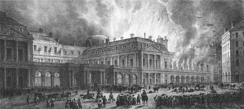 Первый парижский театр Пале Рояль, построенный специально для опер, находился буквально под крылом короля в восточном флигеле дворца. Сгорел 8 июня 1781 года