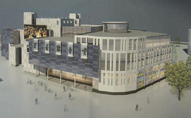 Обсуждаемое предложение организации Минскпроект по перестройке театра