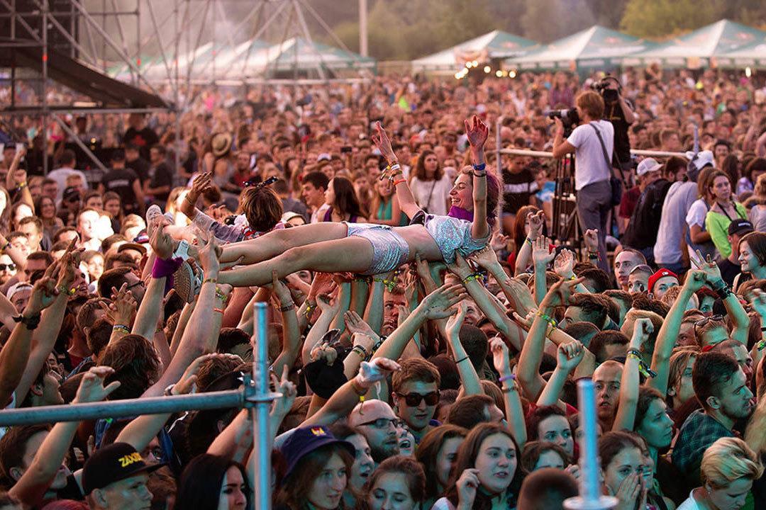 Фото с украинского фестиваля Zaxid, который проходит под Львовом