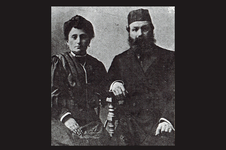 Абрам с женой Иткой. От них берет начало династия каменотесов Спришенов