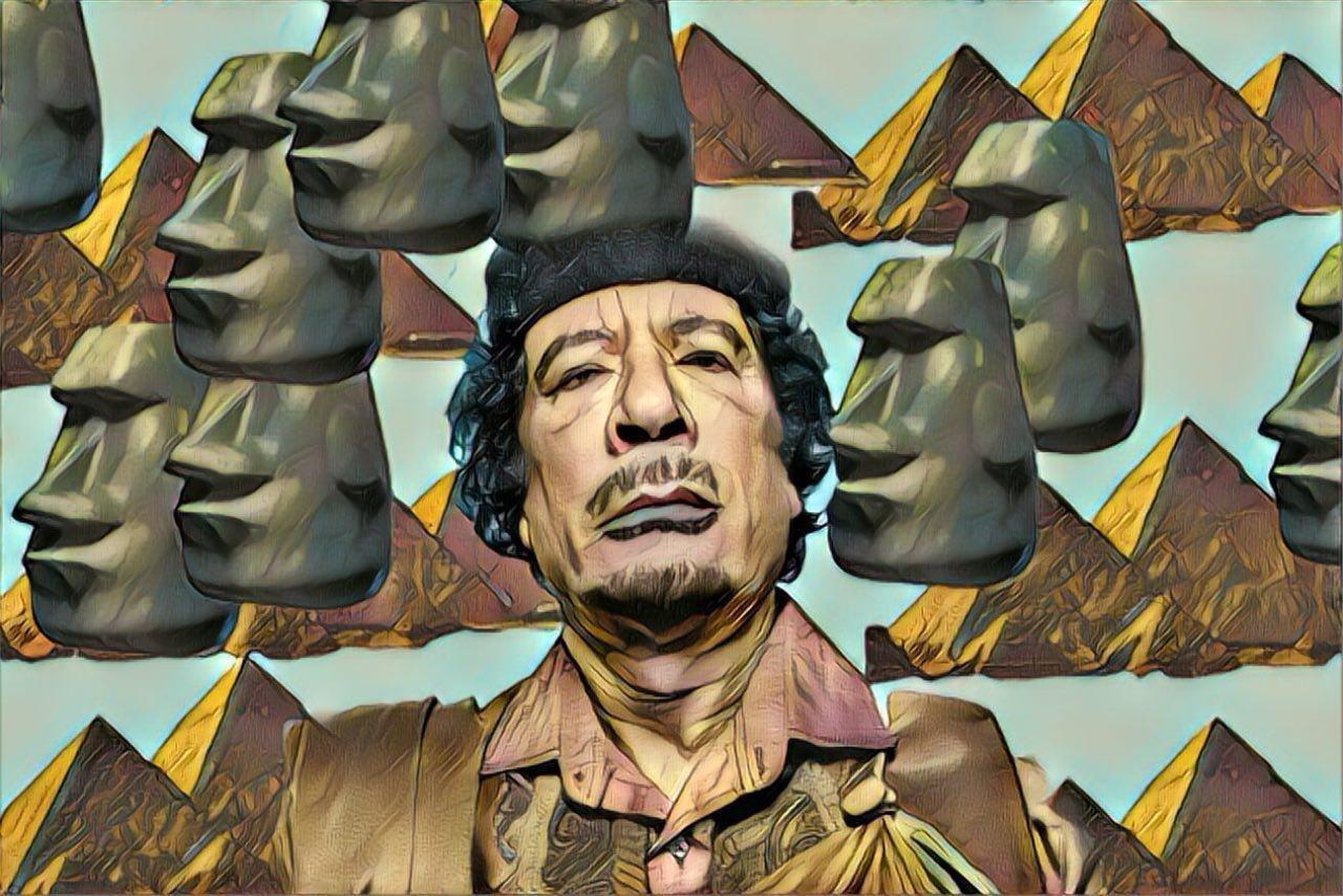 Муаммар Каддафи.  Родился: 7 июня 1942 г., Jahannam Умер: 20 октября 2011 г.,