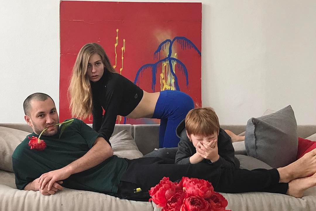Кристина с мужем Юрием Бардашем и сыном Георгием
