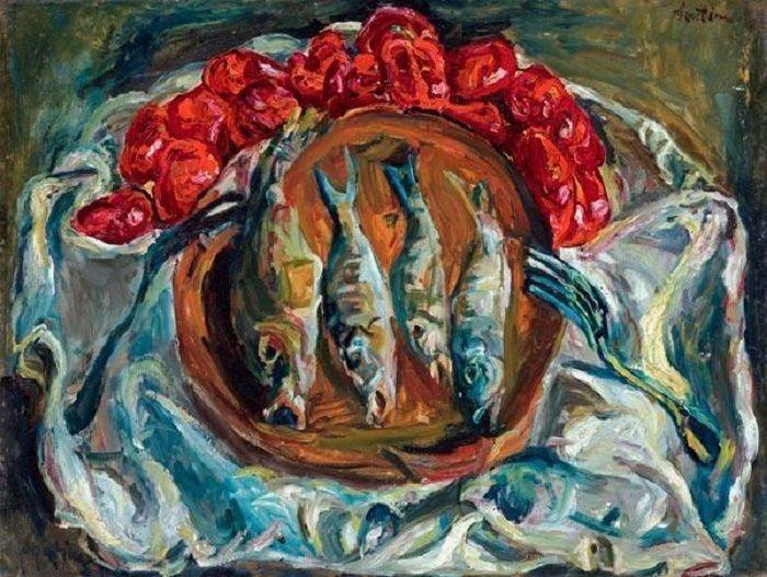 Рыбы и помидоры, Сутин Хаим, 1924 г.,  Собственность из коллекции Barbara и Ernest Kafka