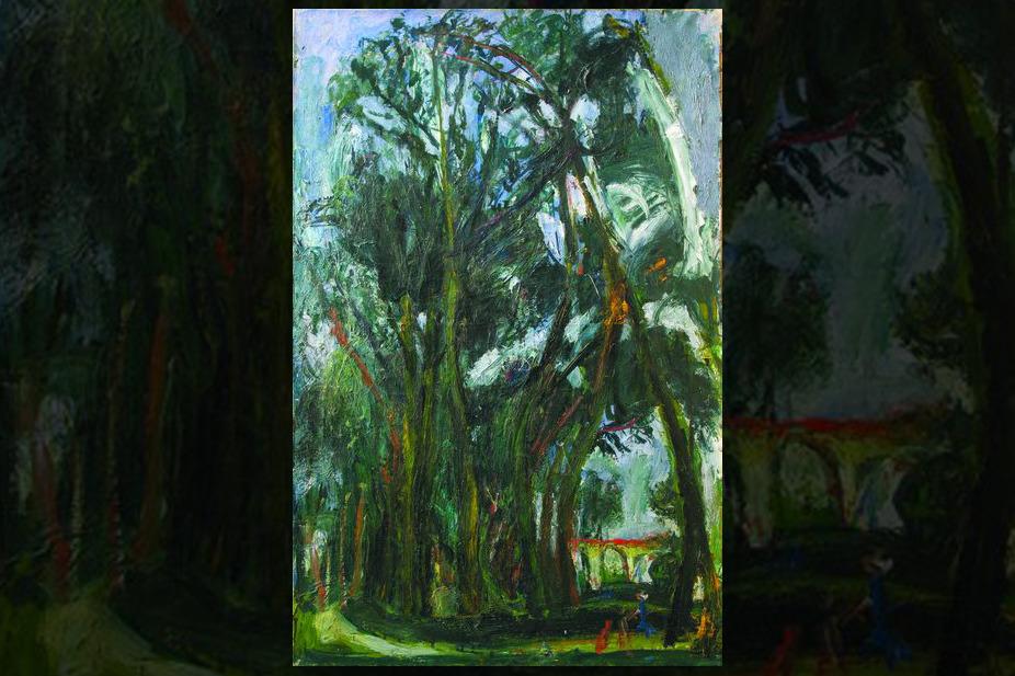 Большие луга в Шартре, возле виадука, Сутин Хаим, около 1934 г.,  Корпоративная коллекция Белгазпромбанка