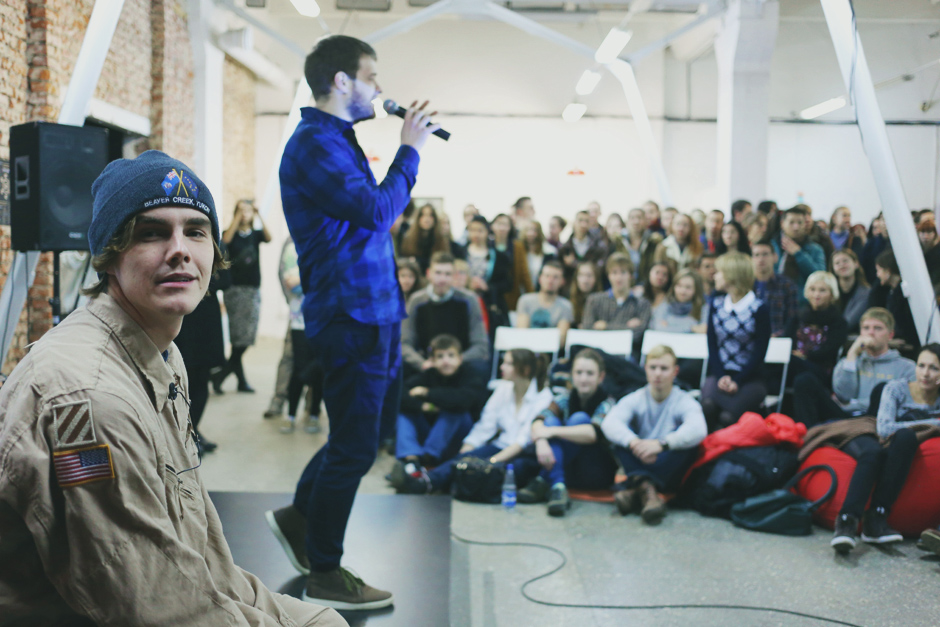ЦЭХ. Встреча с Ромой Свечниковым, автором книги «Рома едзе». ноябрь 2014, фото: 34mag.net