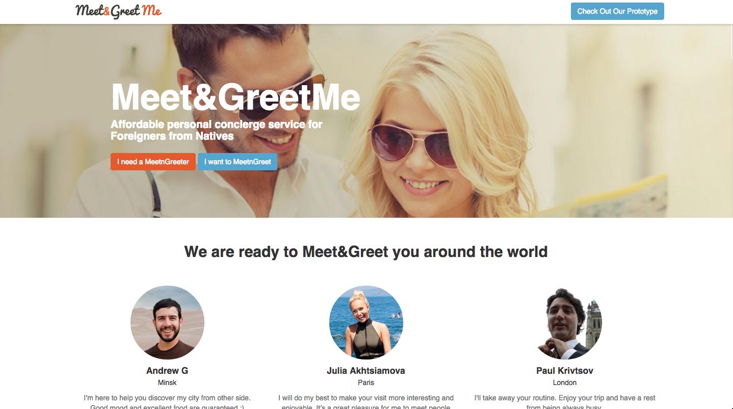 Сайт MeetnGreetMe