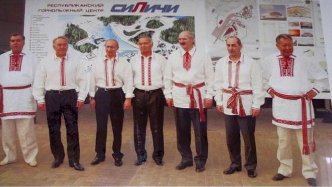 Руководители СНГ в вышиванках на встрече «без галстуков»