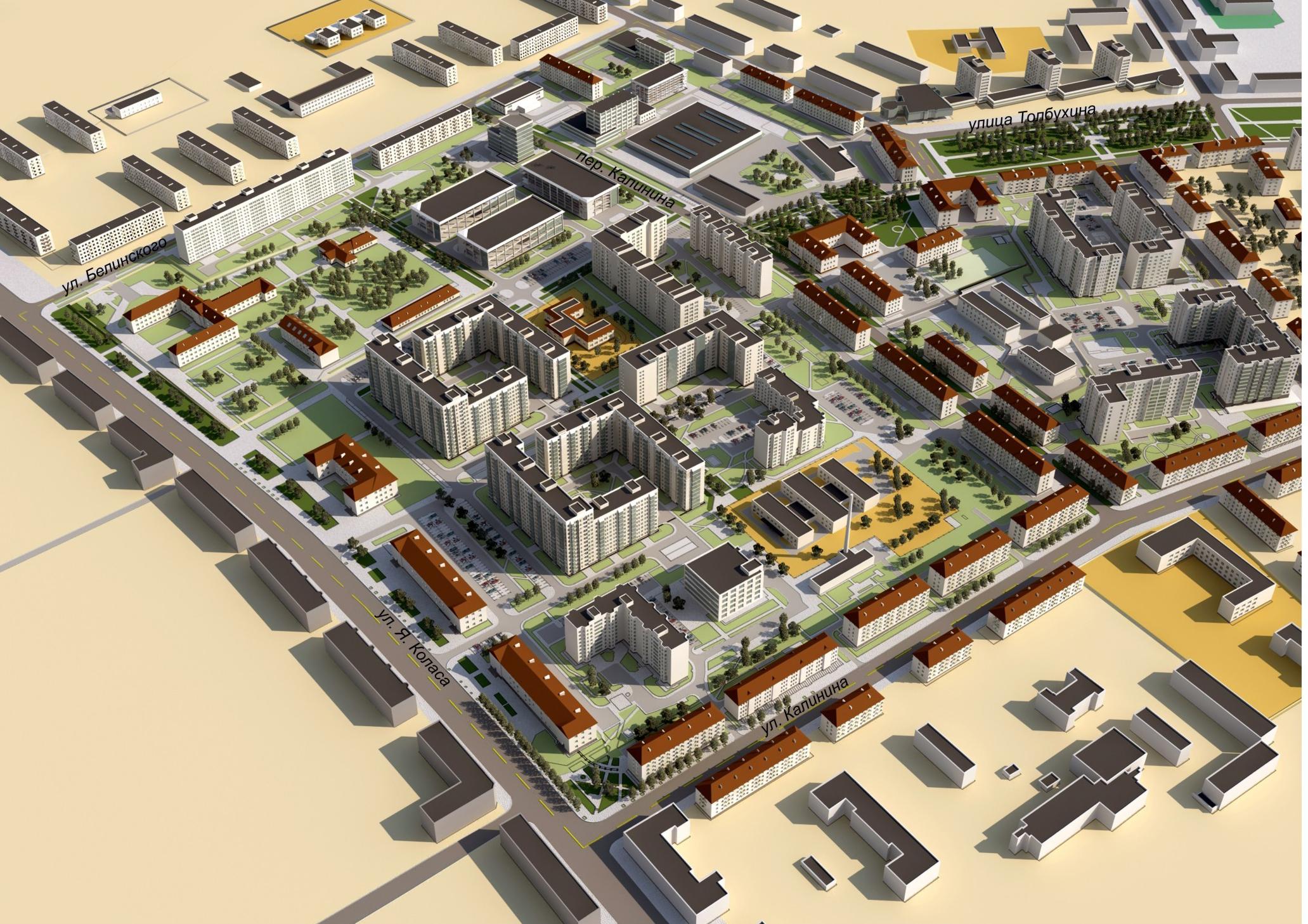 План застройки территории части жилым районом