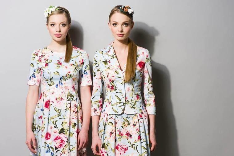 Цветной жакет с юбкой и платье из новой летней коллекции Elema