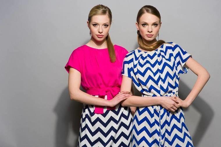 Летние платья для прогулок с острым смелым принтом-зигзагом