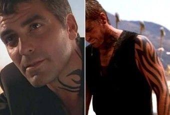 Татуировка Клуни в фильме