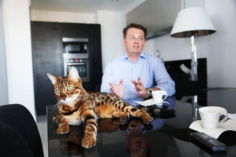 Сергей Нагорный и его кот
