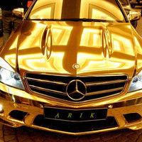 Thumb 23 chrome gold mercedes benz c63 amg 5