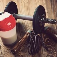 Thumb 236332819 protein a jumping rope and dumbbell low res