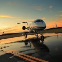 Thumb sunset aircraft wallpapers for mobile
