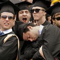 Thumb bored at graduation